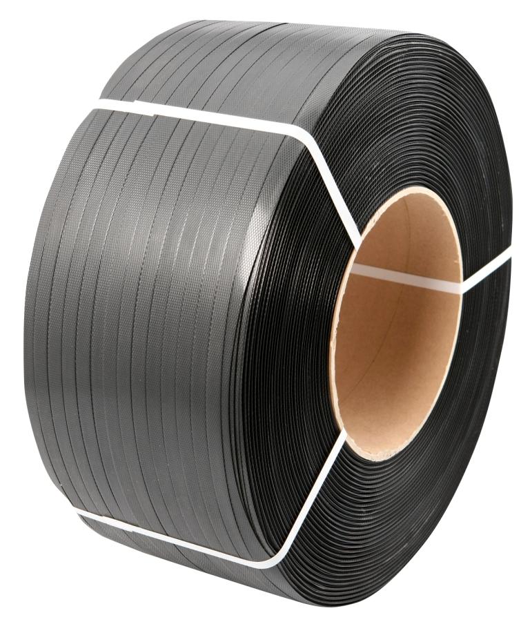 REGGIA PLASTICA NERA - Reggia plastica nera mis. 18x0.8z395, rotola da 1500 mtl