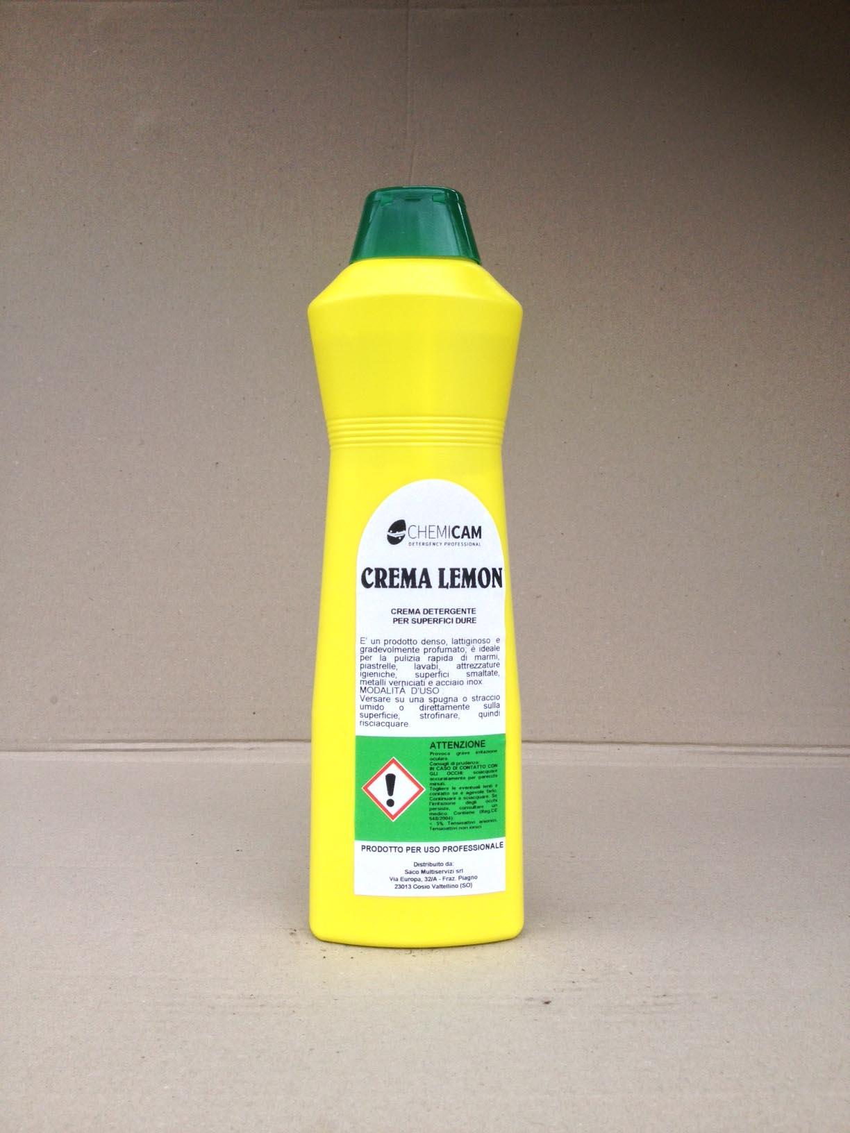 CREMA LEMON - Crema detergente particolarmente adatta per la pulizia quotidiana di superfici dure