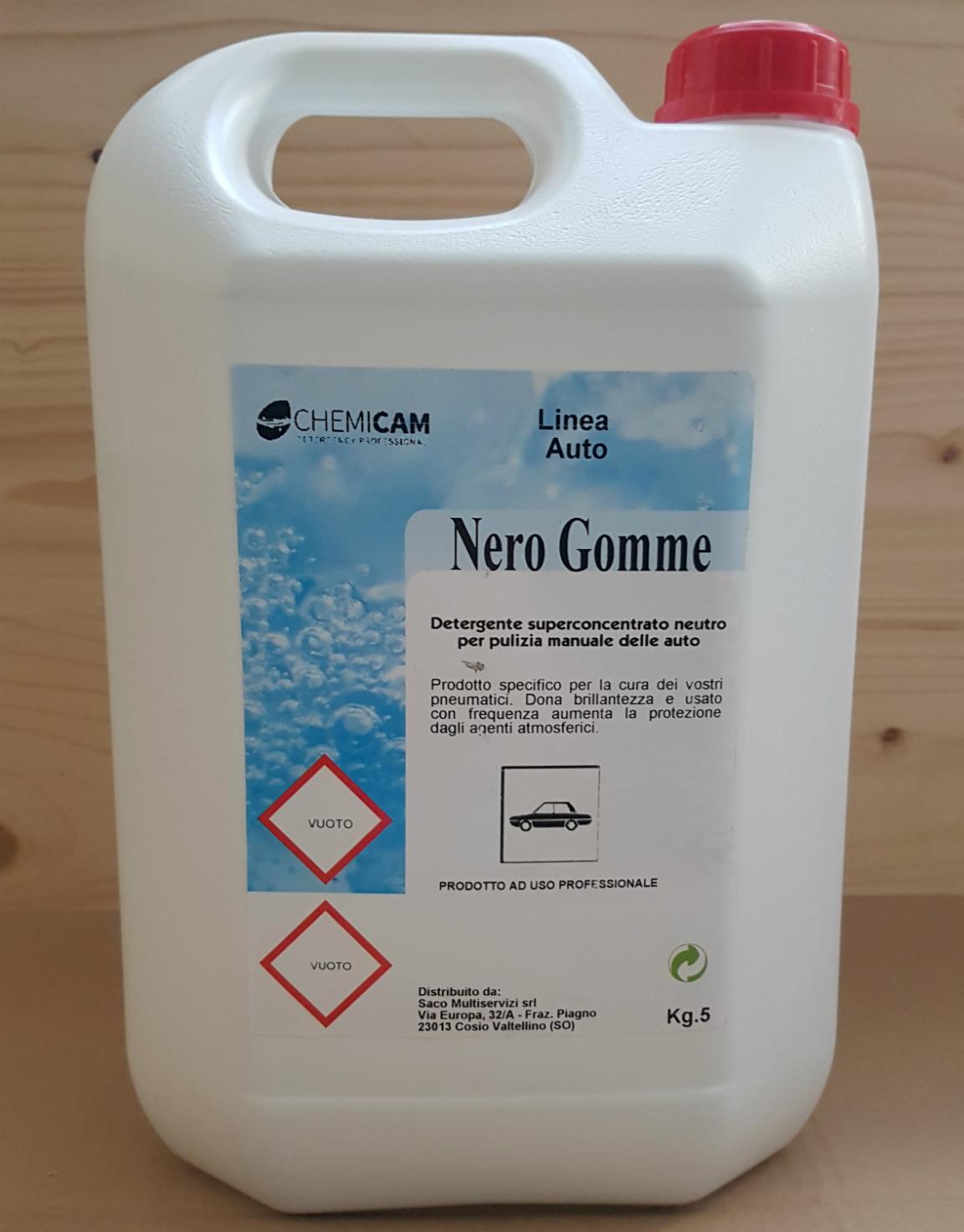 NERO GOMME - Prodotto specifico per la cura dei pneumatici.Dona brillantezza e usato con frequenza aumenta la protezione da agenti atmosferici.