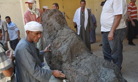 Le colosse découvert. Photo : Al-Ahram