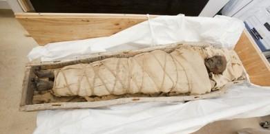 La momie de femme retrouvée en Egypte