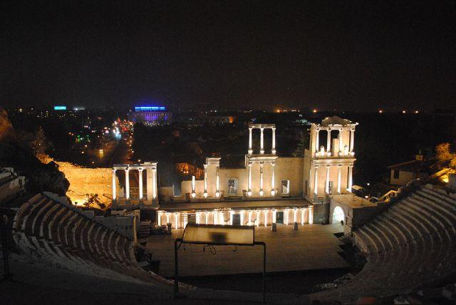 Les six quartiers de luxe de l'ancienne Philipopolis à l'époque romaine étaient situés au pied des Trois collines du vieux Plovdiv, derrière son célèbre théâtre antique. Photo: Wikipedia