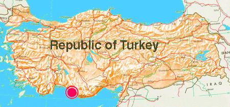 Carte antioche turquie