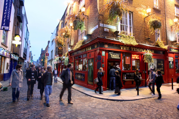 "Le pub ""The Temple Bar"" à Dublin (Chris Jackson/Getty Images)"