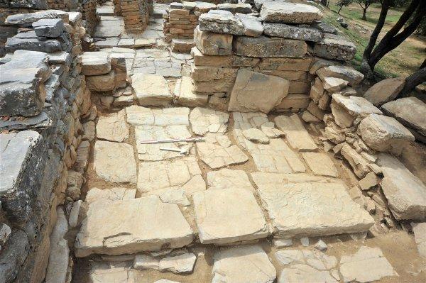 Les fouilles de 2018 se sont intéressées à la partie nord-ouest du palais de Zominthos. Crédit : Ministry of Culture and Sports, Greece