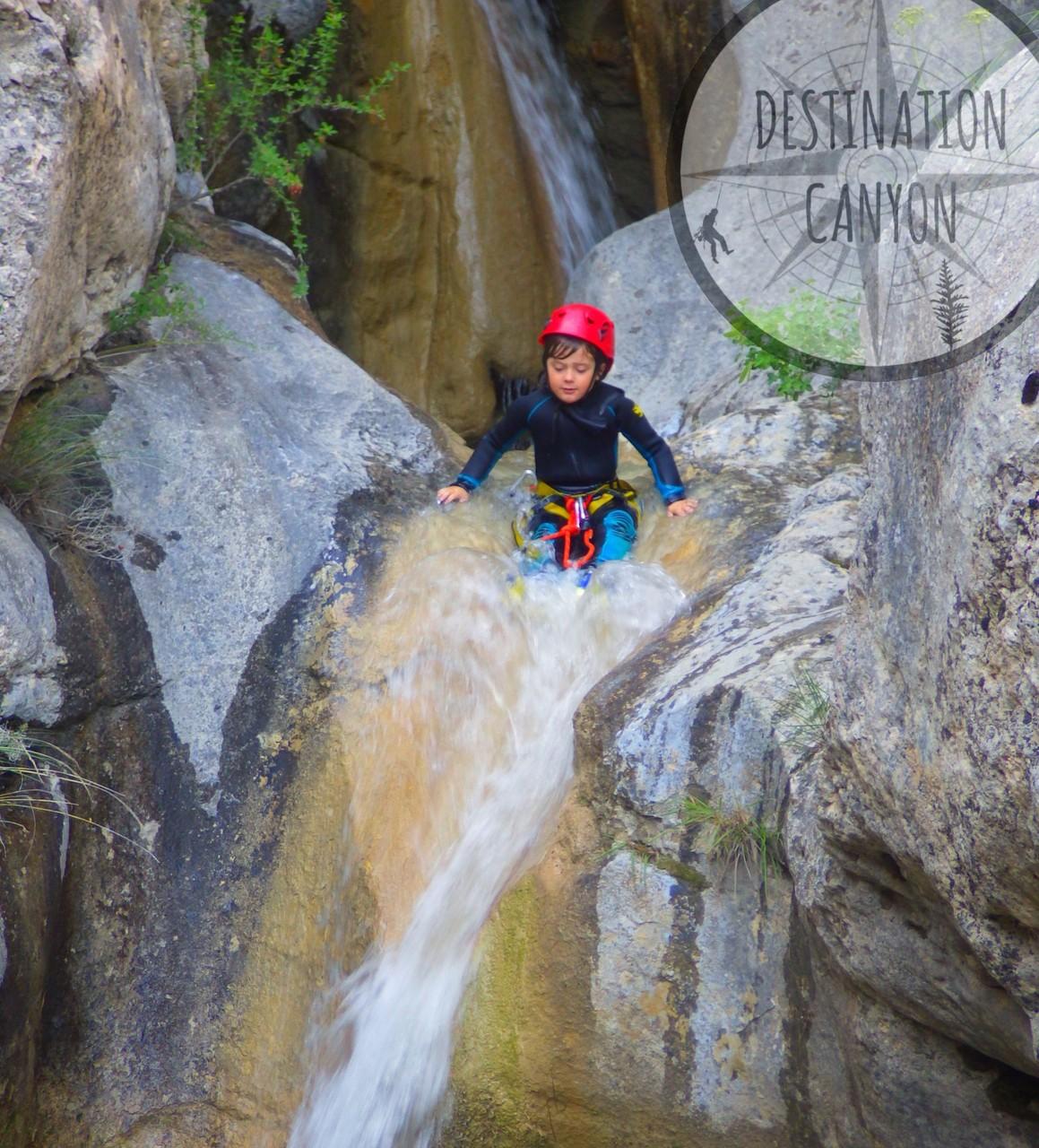 toboggan naturel canyoning à la Faurie