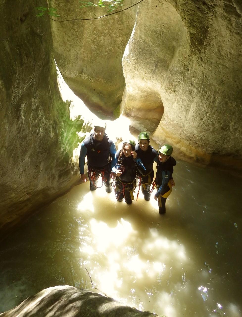Sortie canyoning en famille à Gresse en Vercors