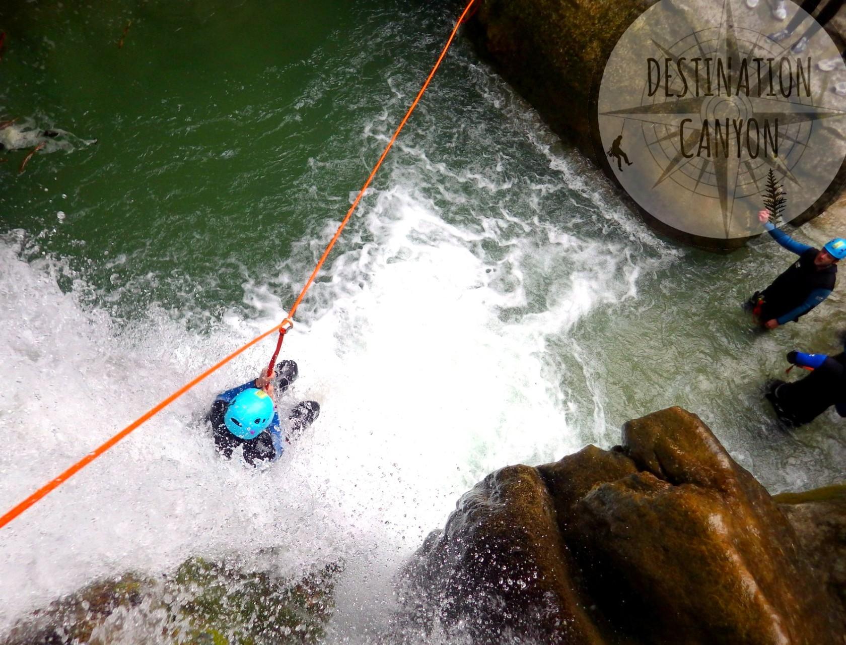 Tyrolienne canyon la Comane - Die