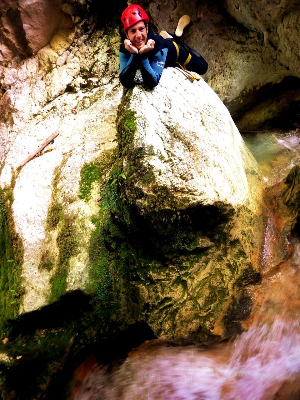 Une pause dans le canyon du Versoud - Isère