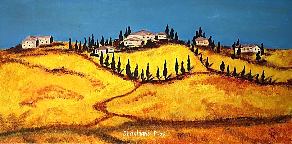 gemaltes Bild  Toskana-Landschaft © Christiane Ros