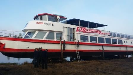 MS Händel II auf der Werft