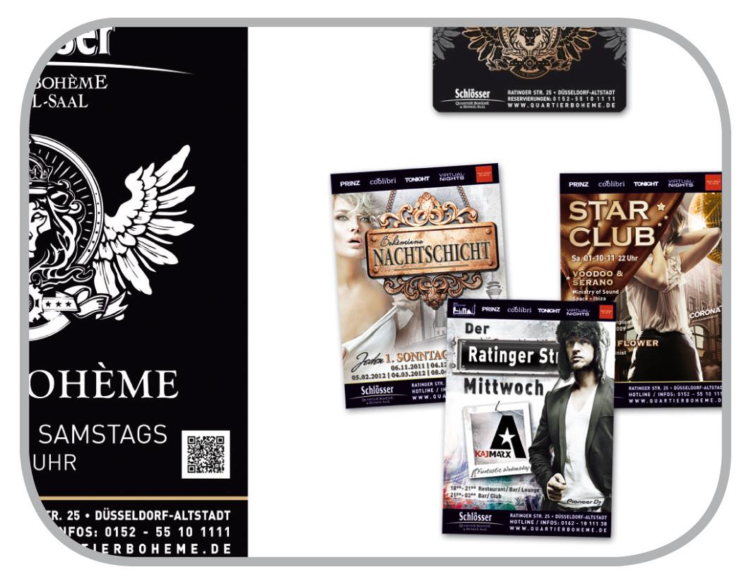 Flyer, Plakate, Anzeigen für Club & Events