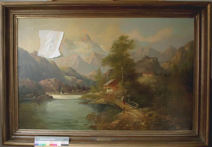 Beschädigtes Gemälde