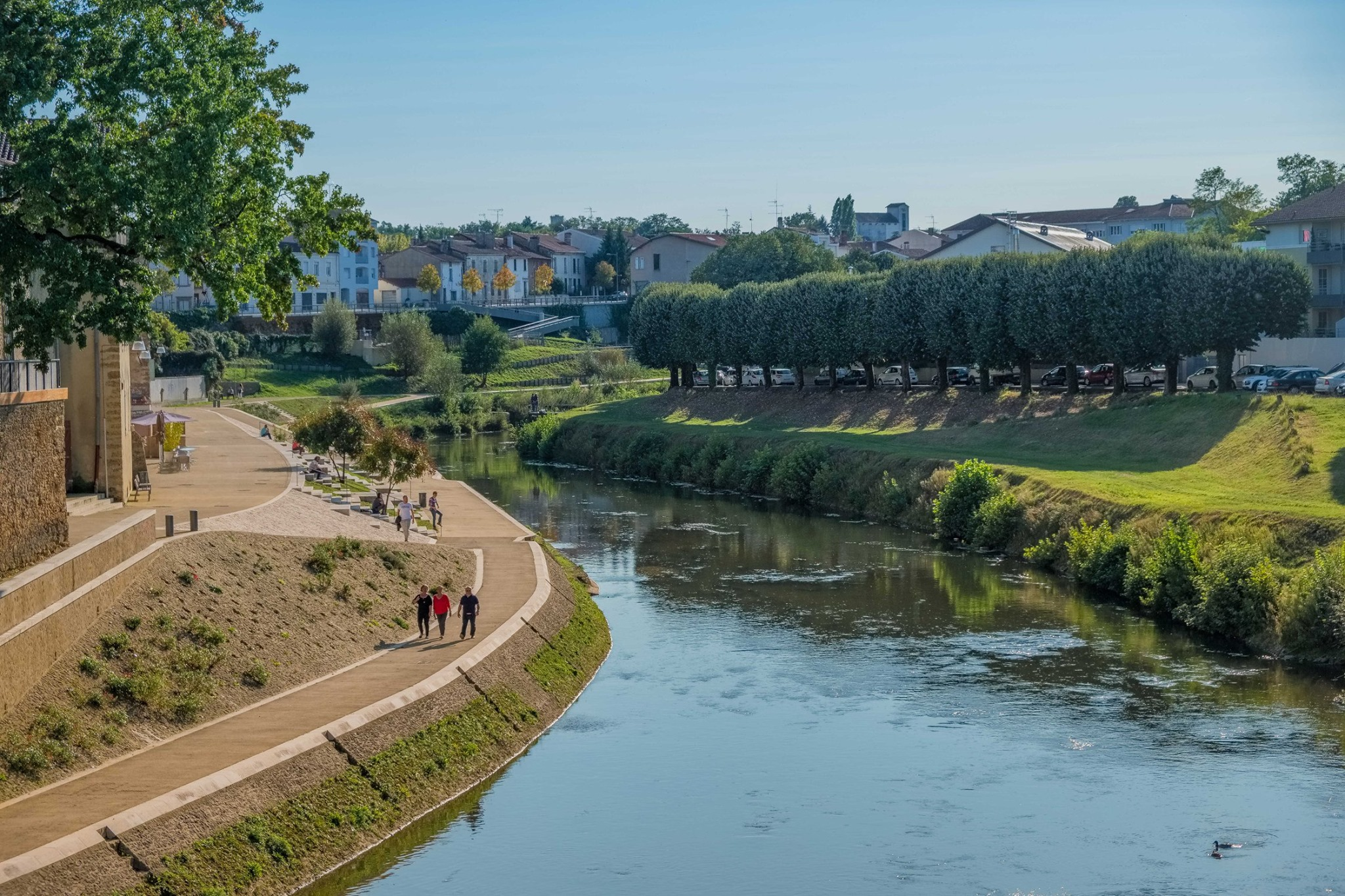 Rivière la Midouze à Mont de Marsan