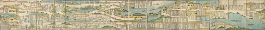 全国の街道・浪花講協定宿を掲載した地図 『浪花講定宿図会』