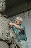 制作開始 平成23年5月(鹿児島) 中村晋也氏アトリエ