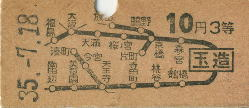 城東線玉造駅の切符