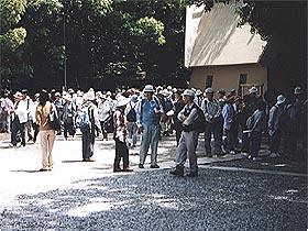資料館を訪れる歴史散策会