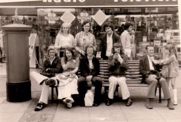 England 1973, Fußgängerzone in Bishops Stortford ( sagt Peter! 😄 )