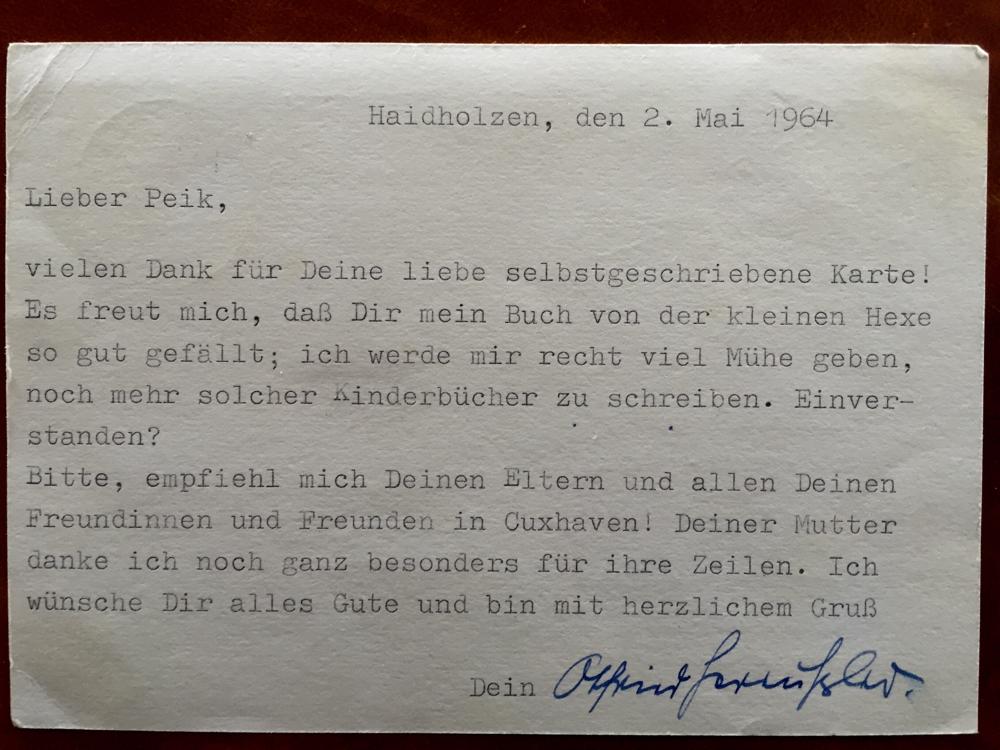 Man achte auf das Datum! Otfried Preußler war genial!
