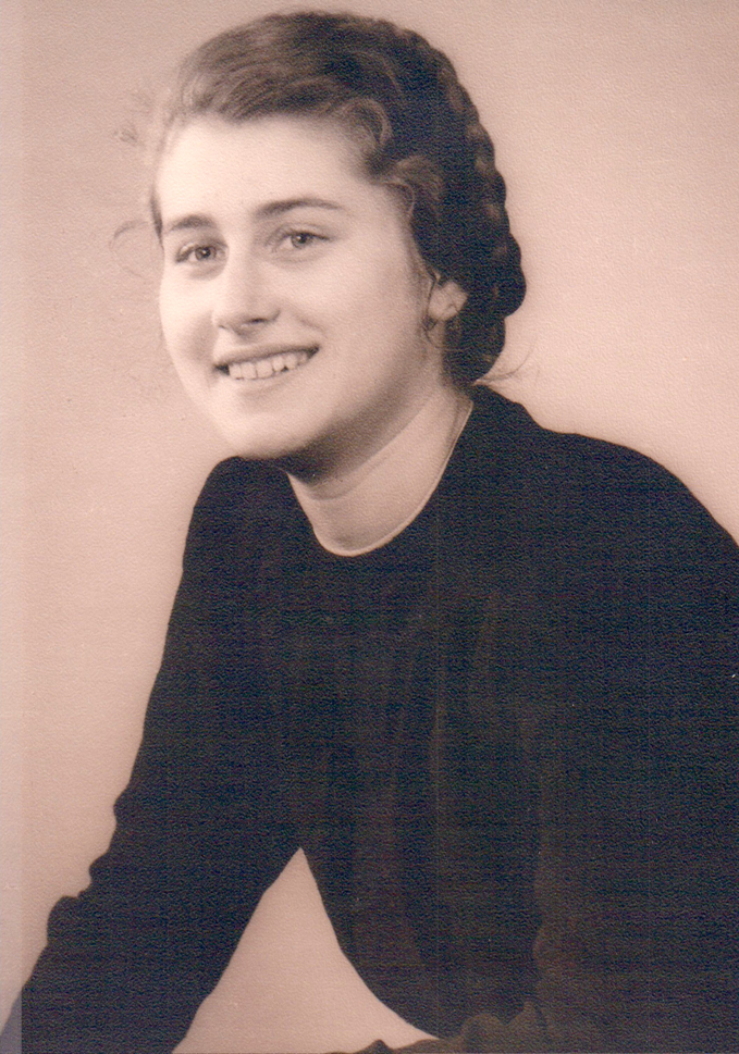 Mama, als sie 14 Jahre alt war ...