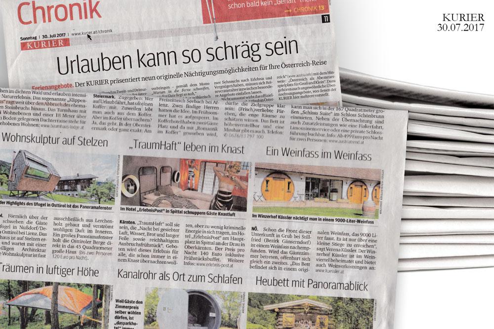 Kurier, Winery Küssler, Winzerhof Austria