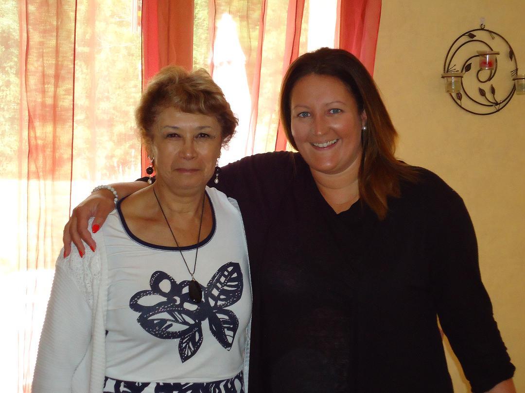 Michèle Blivet, conférencière, et Virginie, médium
