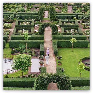 Der Barock-Garten aus der Vogelpersoektive