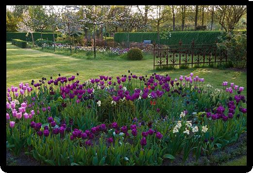 Der Barock-Garten in Künsche-Lüchow (Wendland) im Frühjahr 2019