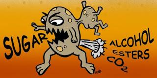 Levure : Dessin caricaturale de levure à bière et son régime