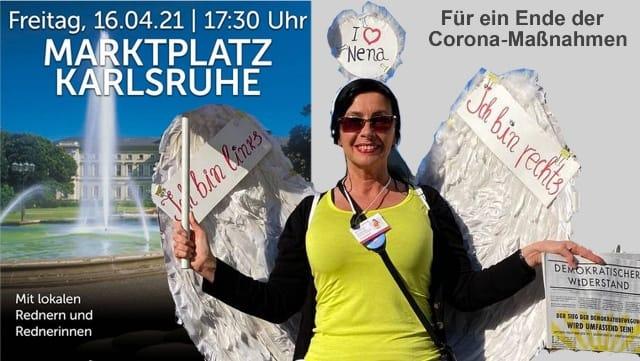 Demo am Marktplatz in Karlsruhe – Für ein Ende der Corona-Maßnahmen
