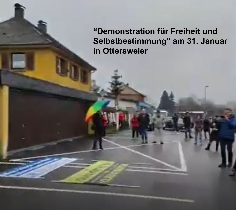Angriffe im Umfeld der Demonstration für Freiheit und Selbstbestimmung am 31. Januar 2020 in Ottersweier