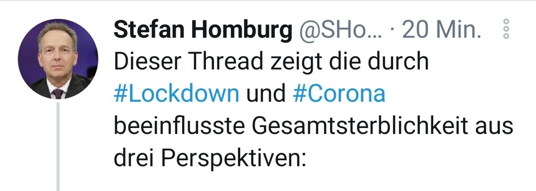 Stefan Homburg auf Twitter: Sterbezahlen in Deutschland