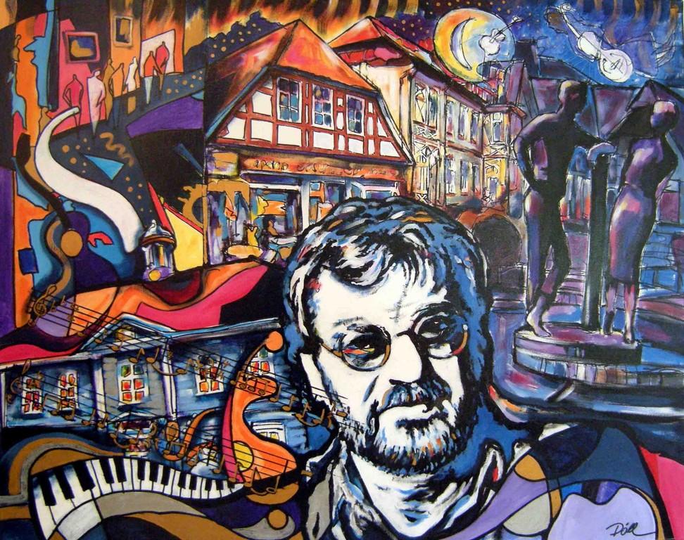 Klaus Lage  Musiker      Technik: Acryl auf Leinwand  80 x 100