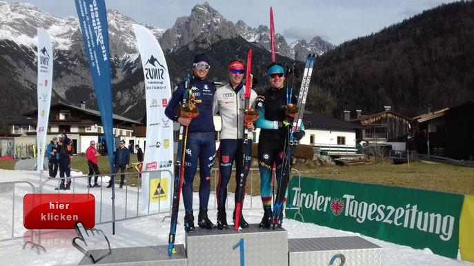 Anian Sossau gewinnt den Sprint beim Continental Cup in St. Ulrich am Pillersee.    Klick zum Bericht !!!!