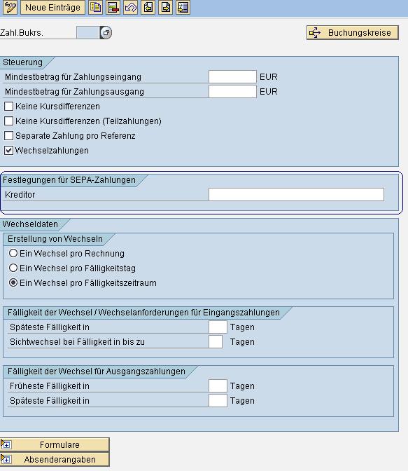 SEPA SAP FI Zahllaufeinstellung www.hettwer-beratung.de