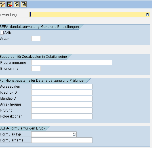 SEPA SAP Mandatsverwaltung neue Einträge www.hettwer-beratung.de