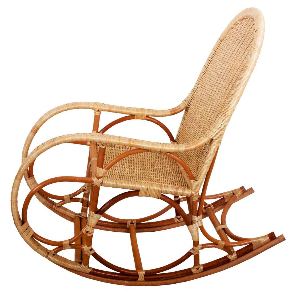 Плетенная кресло качалка