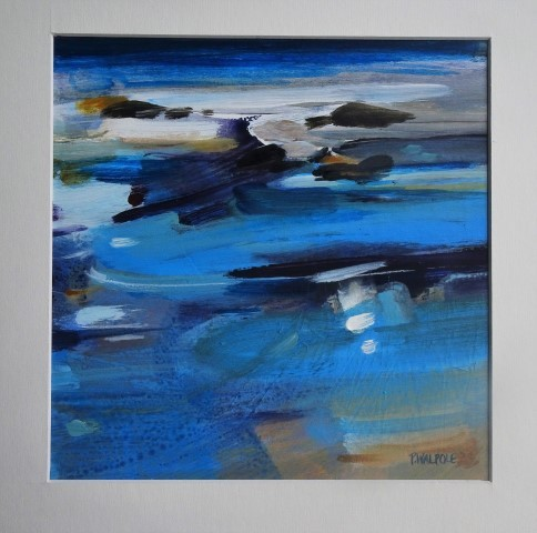 Pam Walpole 'Coolum tide' - acrylic - 41 x 45cm framed - sold $470