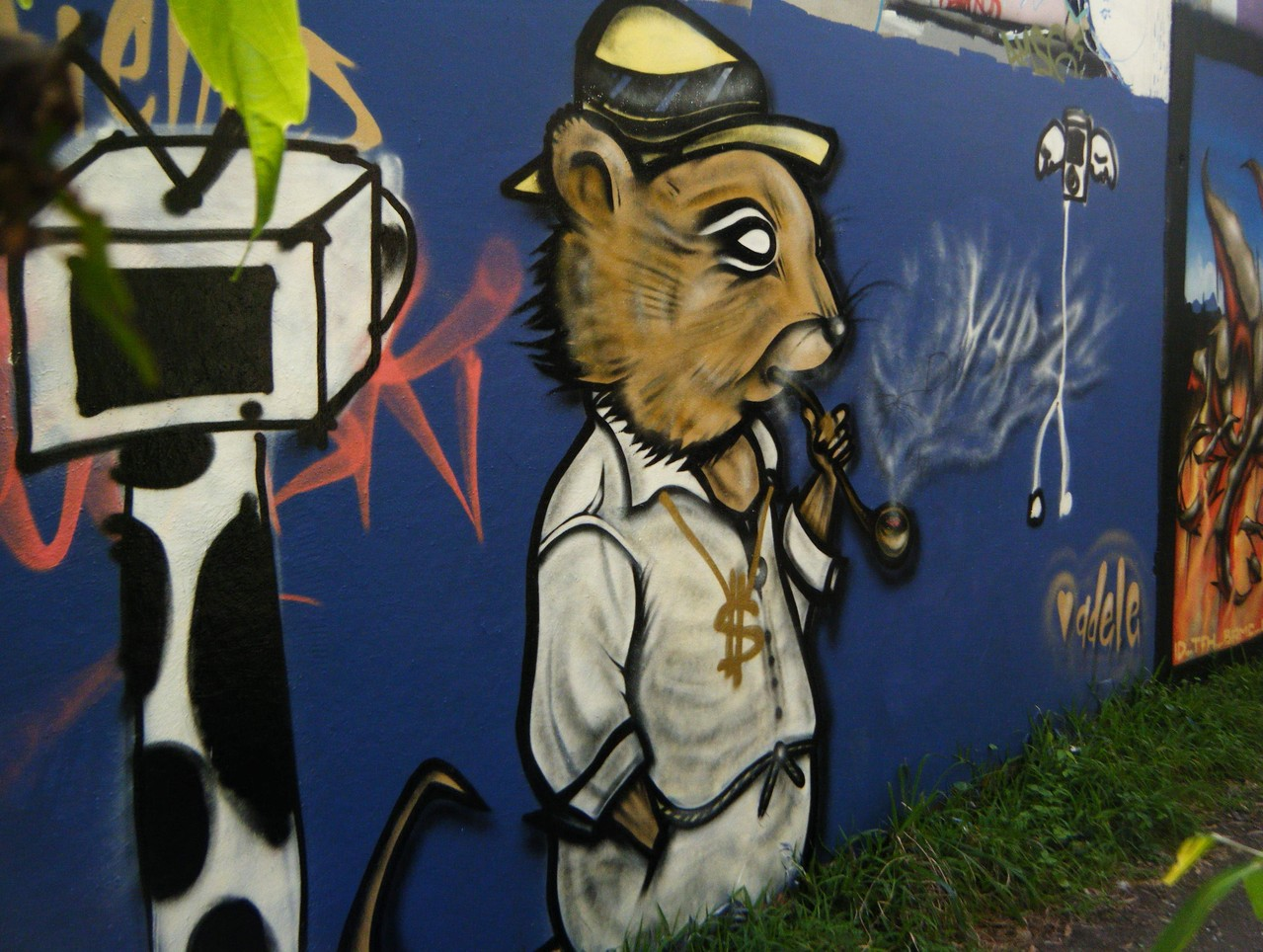 smokin' rat - greenoaks wall 2010