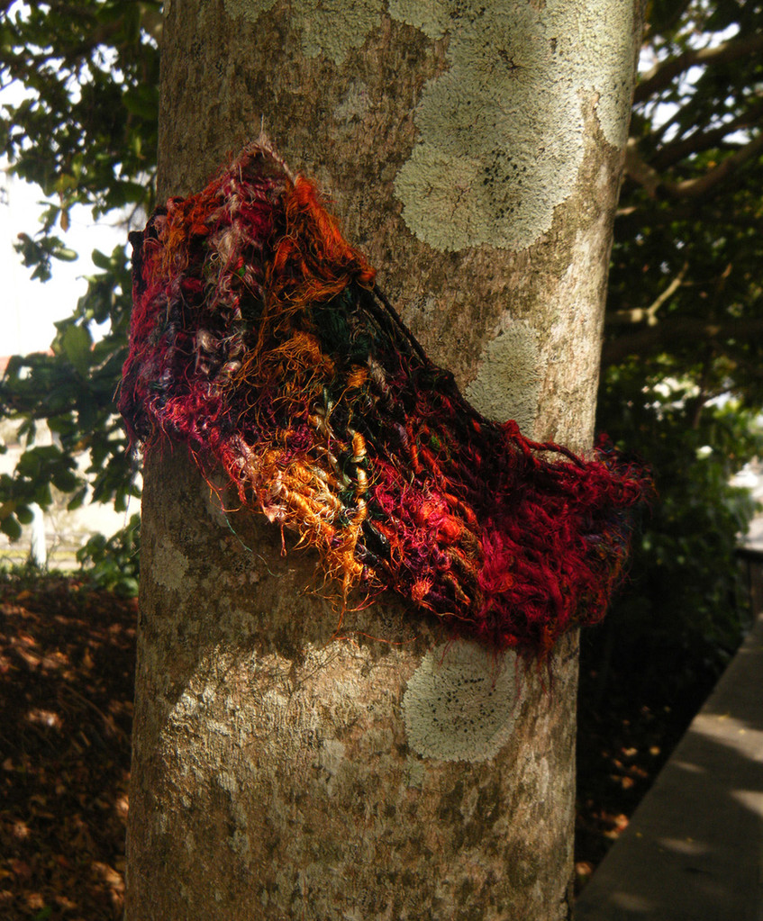 knit bombing - boardwalk 2010