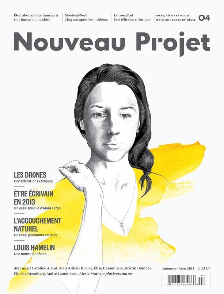 Magazine Nouveau Projet, 2014. Illustration : Mireille St-Pierre.