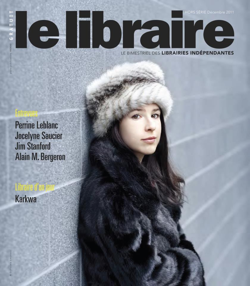 Magazine Les Libraires, 2011. Photo : Guillaume Simoneau.