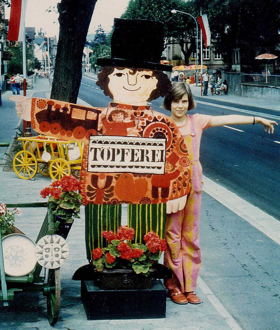 Vor über 35 Jahren zu Besuch bei meiner Töpfertante