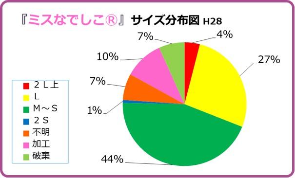 ミスなでしこⓇ2016階級分布グラフ 和×夢 nagomu farm