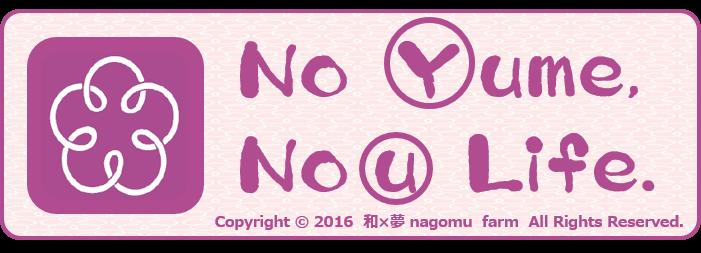 No 【Y】ume, No【u】 Life. 【梅の造語】 バナー