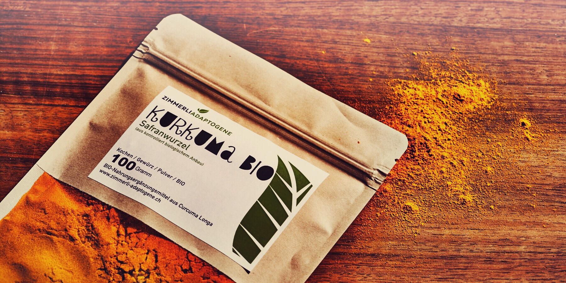 Kurkuma ökologisch verpackt