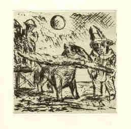"""Radierung aus dem Buch """"Undine"""" von Emil Julis"""