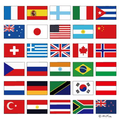国旗のイラスト