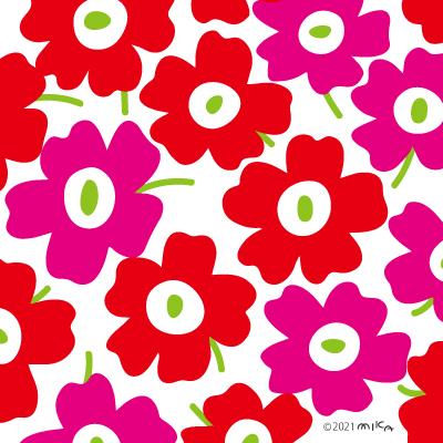 北欧風花のパターン①